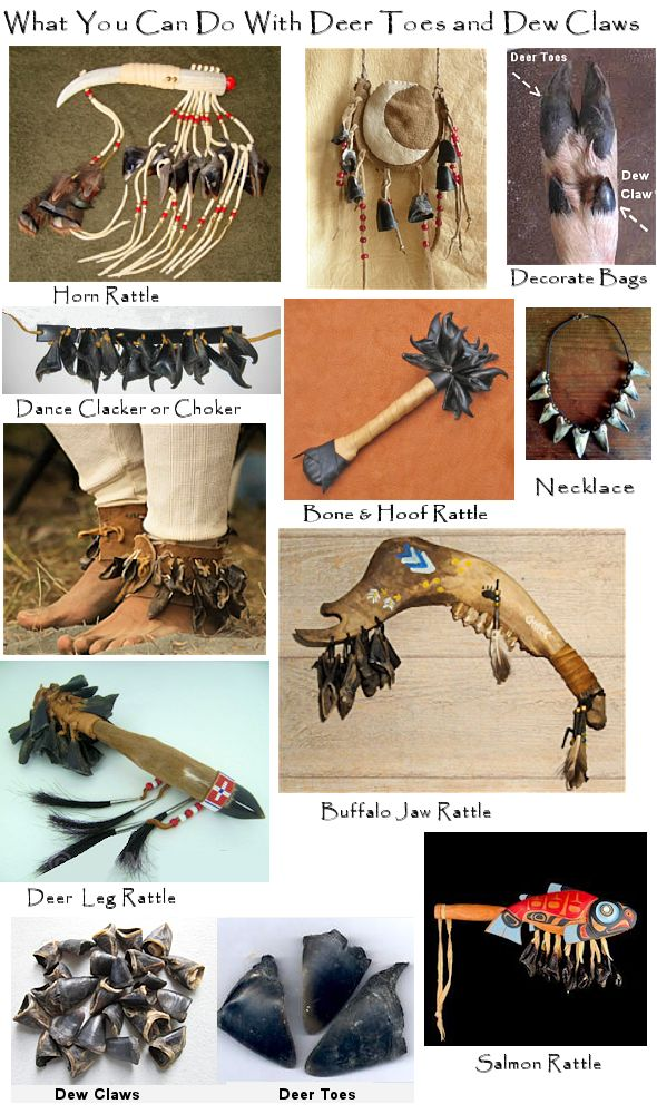 Craft ideas for deer hooves or toes or dew claws