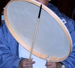 Eskimo style drum