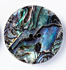 "2"" Abalone Disc, 2 Holes"
