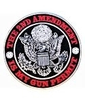 2nd Ammendment is My Gun Permit Embroidered Patch