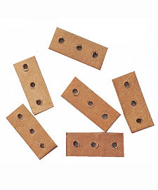 3 Hole Leather Choker Spacers
