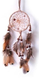 "3"" Dream Catcher with Natural Feathers"