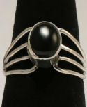 Black Onyx Sterling Silver Ring #31