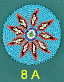 "3"" Seed Bead Rosette #8A"
