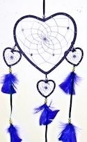 Purple Four Heart Dreamcatcher