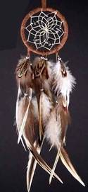 "5"" Dream Catcher with Natural Feathers"