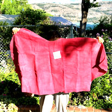 Hot Pink suede #50, Cowhide suede leather