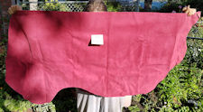 Hot Pink suede cowhide leather #53