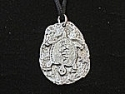 Turtle medallion pewter pendant