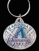 LICENSED Arizona Diamondbacks Baseball Keychain