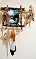 Jaw Tomahawk with Eagle Picture Wall Hanging