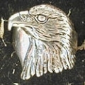 silver eagle head ring
