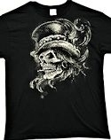 Voodoo Magic Skull Wearing Top Hat T-SHIRT