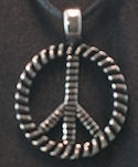 Rope style pewter piece sign pendant