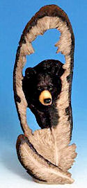 Bear in Feather Statue