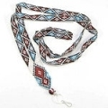 Native Inspired Geometric Art Beaded Lanyard