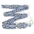 Geometric native American Inspired beaded lanyard