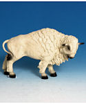"11"" White Buffalo Figurine"
