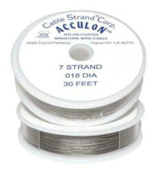 Acculon Nylon Coated Tigertail Craft Wire, .018 Diameter