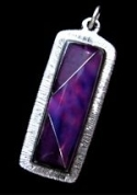 Amethyst and Sugilite Inlaid Stone Pendant #3-022