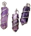 Wire Wrapped Amethyst Points