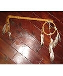 Antler Buton Medicine Wheel Coup Stick or Dance Staff