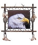 "Bald Eagle 16"" x 16"" Wall Hanging"