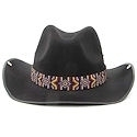 Multicolored seed beaded hatband