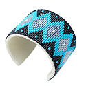 Beaded Cuff sead bead Native design bracelet