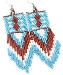 Beaded Native American Inspired Seed Beaded Dangle Earrings