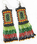Beaded traditional seed beaded earrings