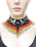 Birds Multi-Color Beaded Choker Necklace