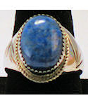 Blue Lapis Sterling Silver Ring No 112
