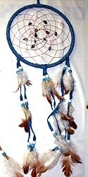 "7"" Blue Seashell Dream Catcher"