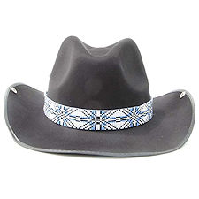 Cross pattern beaded hat band