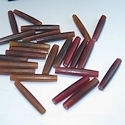 "1.5"" Red or Brown Buffalo Horn Hairpipe Beads"