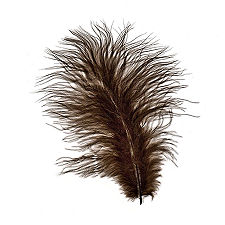 Brown Turkey Maribou Feathers, 3 to 8 inches
