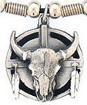 Diamond Cut Buffalo Shield Pendant