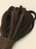 Chocolate Brown Deerskin Laces