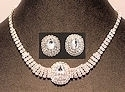 Evening glamour CZ necklace and earring set