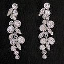 CZ flower cascade earrings
