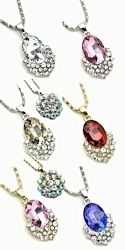 Dozen CZ Pendant Necklace Assortment