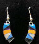 Dangly Native American Inspired Inlaid Stone Earrings