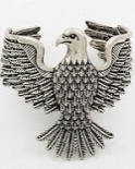 Flying Eagle Silver Cuff Bracelet
