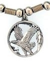 Flying Eagle Diamond Cut Pendant