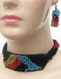Four Mesas Seed Beaded Necklace & Earrings Set