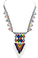 Native American Inspired Geometric Beaded Necklace