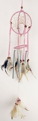 Globe pink dreamcatcher windchime.