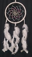 "Grey and Light Blue 6"" Spiral Dream Catcher"