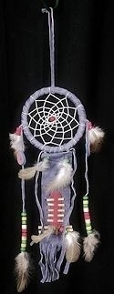 "3 1/2"" Lavendar Dream catcher breastplate ornament"
